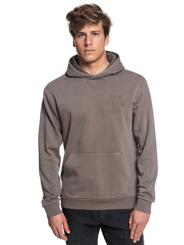 0 Aso Plains Hoodie Grey EQYFT03855 Quiksilver