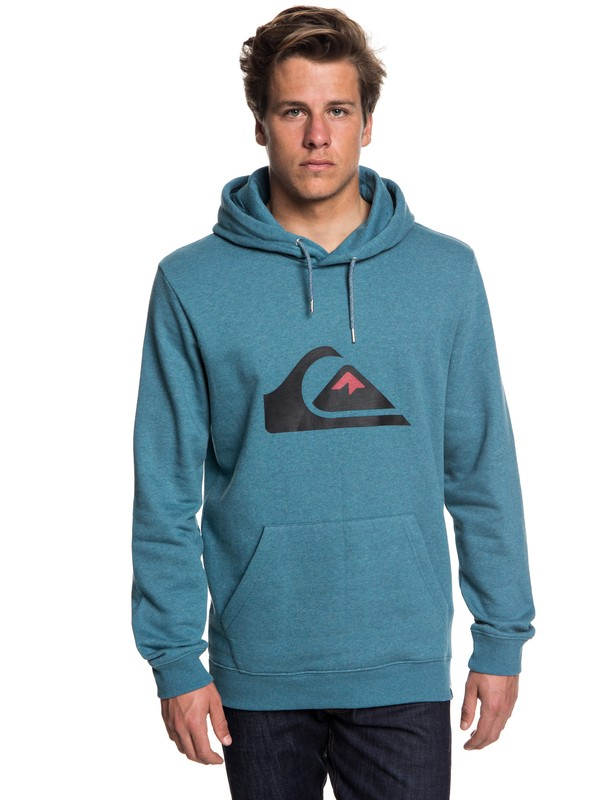 0 Big Logo - Hoodie for Men Blue EQYFT03856 Quiksilver