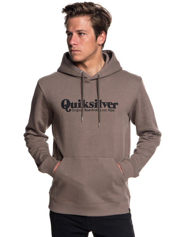 0 Fineline Hoodie Grey EQYFT03900 Quiksilver