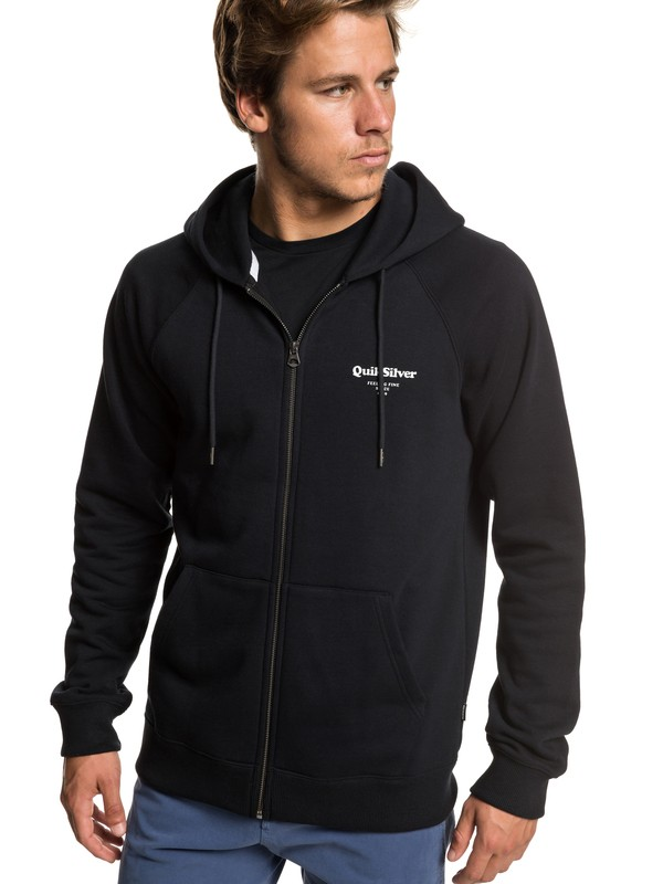 0 Deacon Zip-Up Hoodie Black EQYFT03971 Quiksilver