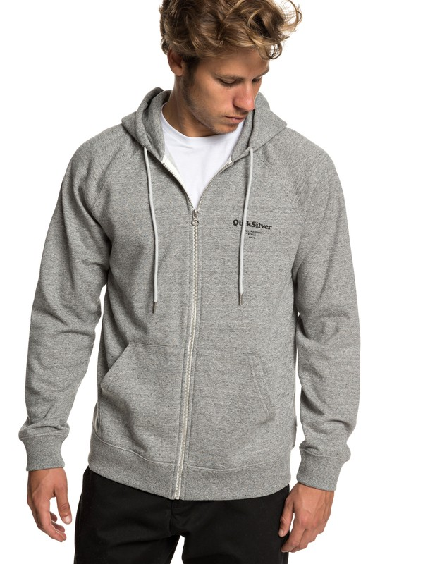 0 Deacon Zip-Up Hoodie Grey EQYFT03971 Quiksilver