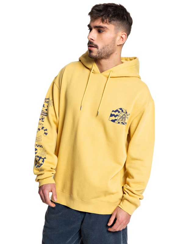0 Positive Vibrations - Hoodie Yellow EQYFT04074 Quiksilver