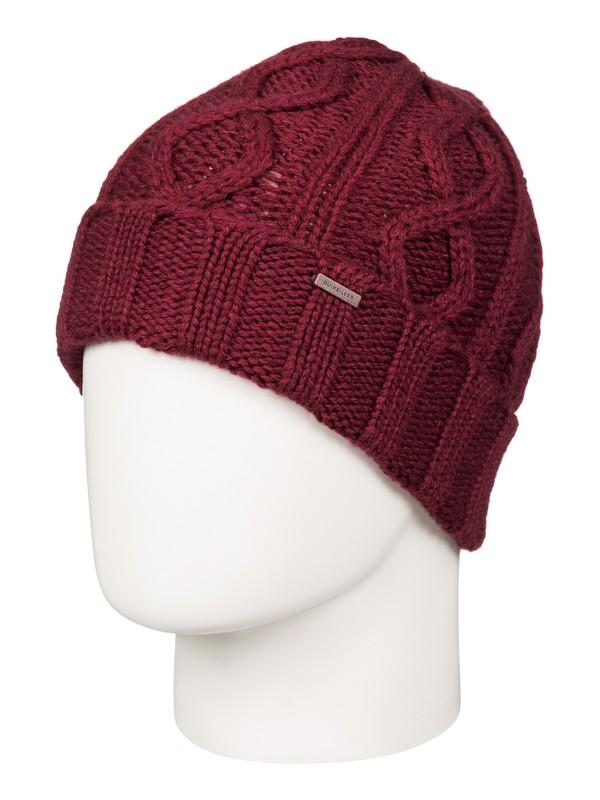 0 Merlu - Bonnet à revers Rouge EQYHA03040 Quiksilver