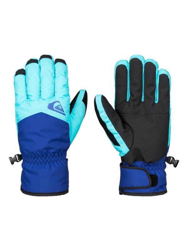 0 Сноубордические перчатки Cross Синий EQYHN03051 Quiksilver