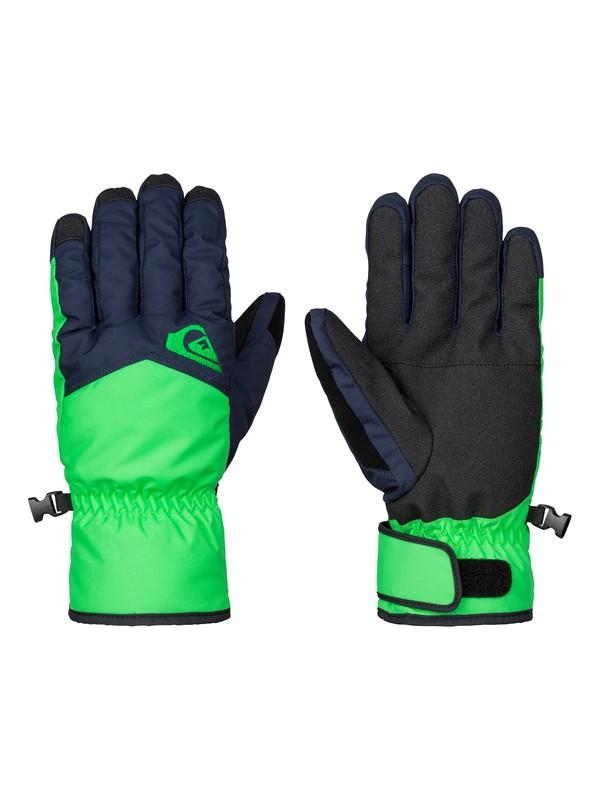 0 Сноубордические перчатки Cross Зеленый EQYHN03051 Quiksilver