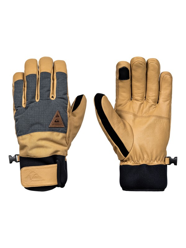 0 Squad - Snowboard/Ski Gloves Yellow EQYHN03087 Quiksilver