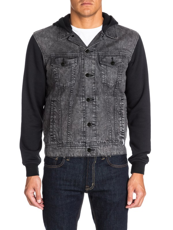 0 Deadwater Black Enzyme - Denim Jacket  EQYJK03080 Quiksilver