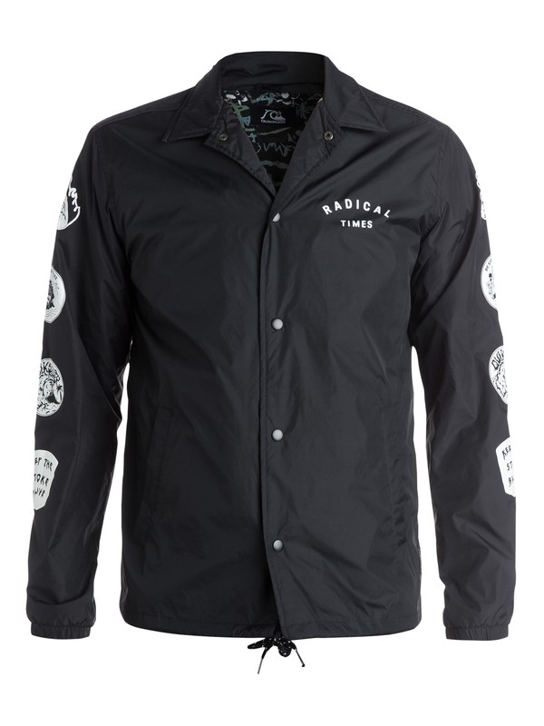 0 Death By Stereo Coach Jacket  EQYJK03118 Quiksilver