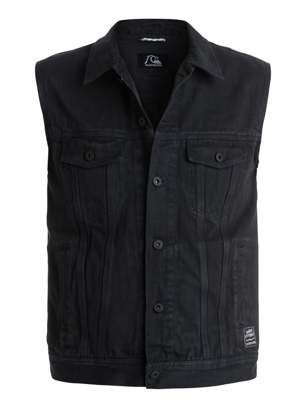 0 Hooligans And Whisky Sleeveless Denim Jacket  EQYJK03135 Quiksilver