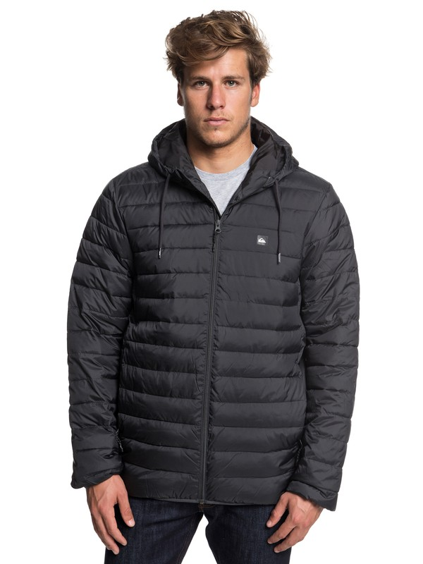 0 Everyday Scaly - Hooded Insulation Jacket for Men Black EQYJK03234 Quiksilver