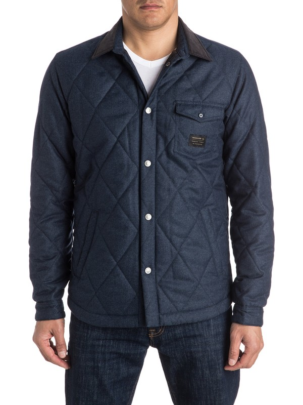 0 Marbling - Quilted Overshirt  EQYJK03280 Quiksilver