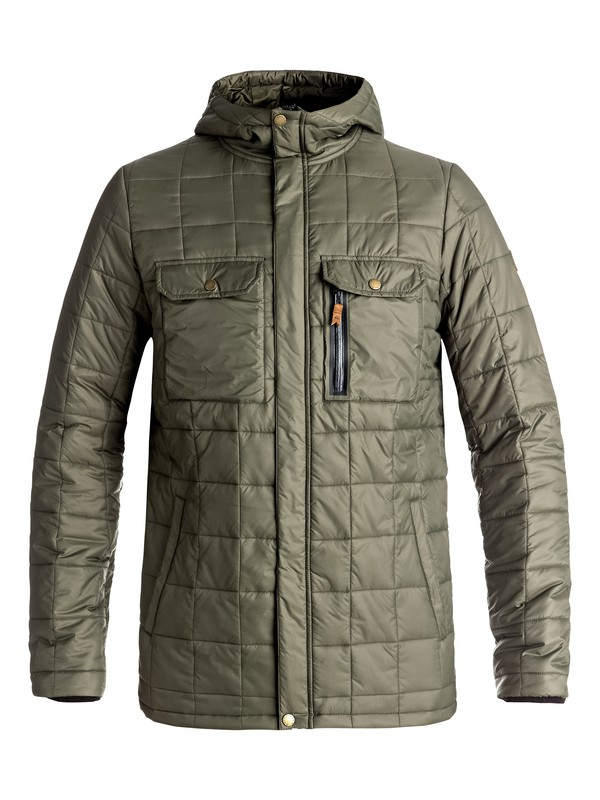 0 Cruiser - Insulator Jacket Brown EQYJK03327 Quiksilver