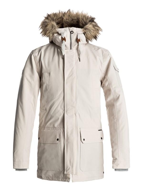 0 Ferris - Waterproof Parka Jacket Beige EQYJK03332 Quiksilver
