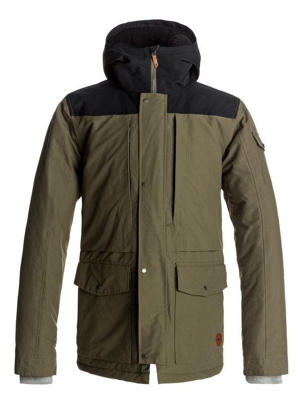 0 Canyon - Waterproof Hooded Jacket Brown EQYJK03334 Quiksilver