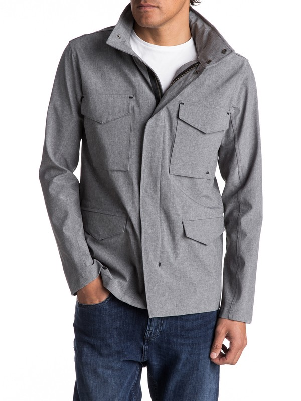 0 Shell Harb Waterproof Technical Military Jacket  EQYJK03353 Quiksilver
