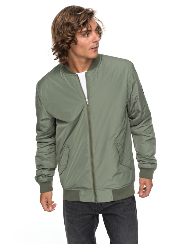 0 Charveen - Bomber Jacket for Men Green EQYJK03381 Quiksilver