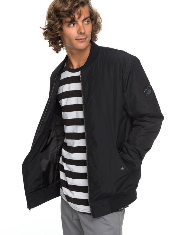 0 Charveen - Bomber Jacket for Men Black EQYJK03381 Quiksilver