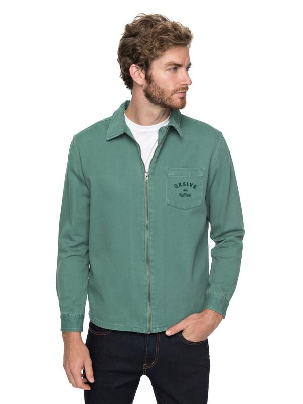 0 Riser Twill - Veste zippée pour Homme Vert EQYJK03391 Quiksilver
