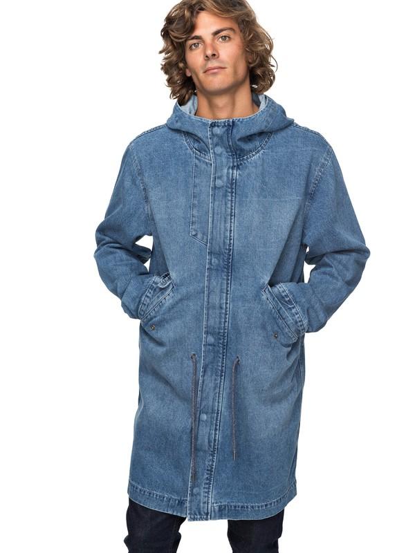 0 Джинсовая куртка Brick Синий EQYJK03396 Quiksilver