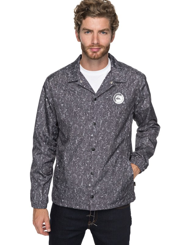 0 Surf Coach Coaches Jacket Black EQYJK03399 Quiksilver