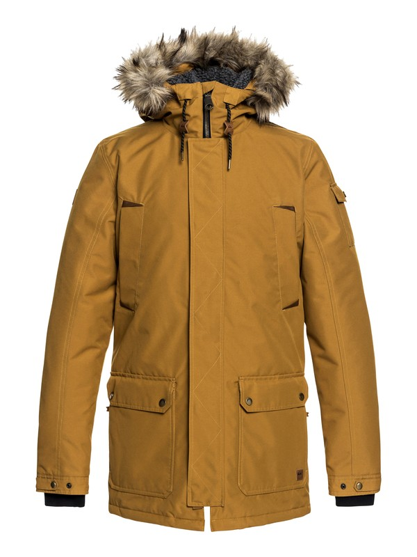 0 Ferris - Waterproof Hooded Parka for Men Brown EQYJK03408 Quiksilver