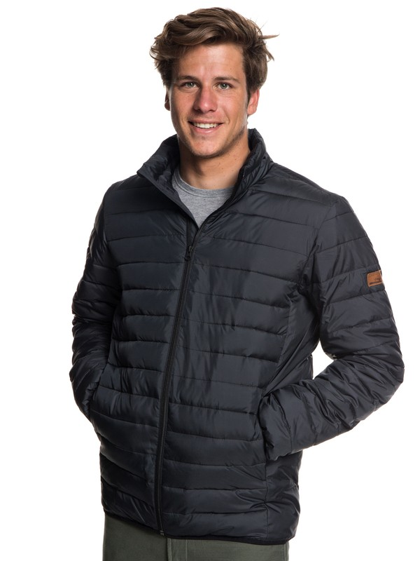 0 Scaly Water Resistant Puffa Jacket Black EQYJK03419 Quiksilver
