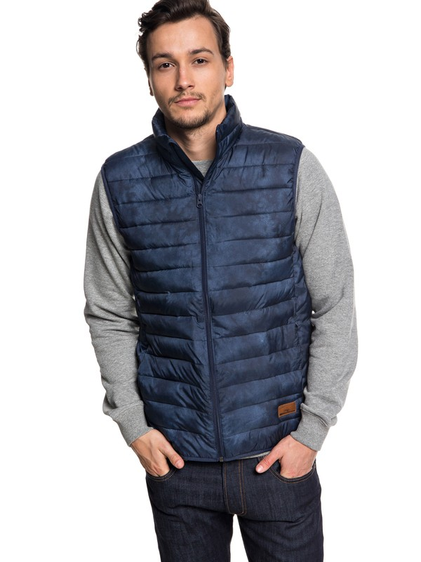 0 Scaly - Water-Resistant Puffer Jacket for Men Blue EQYJK03420 Quiksilver