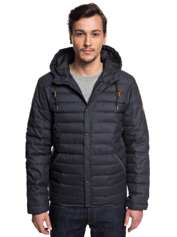 0 Scaly - Puffer Jacket for Men Black EQYJK03421 Quiksilver