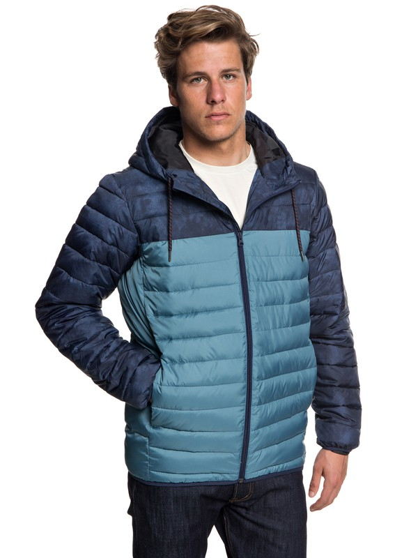 0 Scaly Block - Water-Resistant Puffer Jacket for Men Blue EQYJK03426 Quiksilver