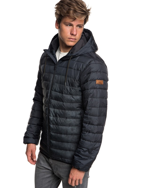 0 Scaly Block - Water-Resistant Puffer Jacket for Men Black EQYJK03426 Quiksilver
