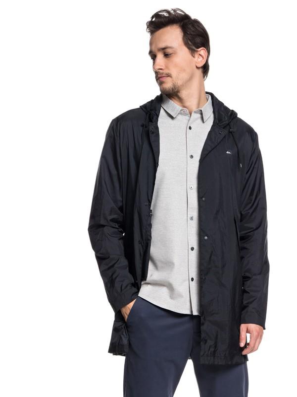 0 Qpak Water Resistant Packable Coaches Jacket Black EQYJK03430 Quiksilver