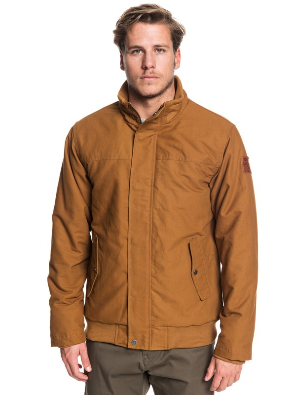 0 Brooks Full Zip - Veste déperlante pour Homme Marron EQYJK03431 Quiksilver