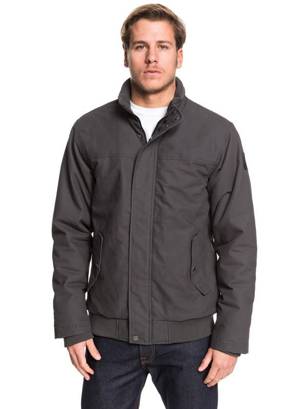0 Brooks Full Zip - Water Repellent Jacket for Men Black EQYJK03431 Quiksilver
