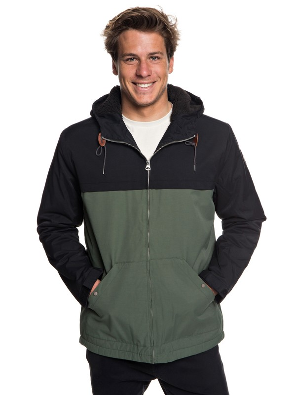 0 Wanna - Water-Resistant Hooded Parka for Men  EQYJK03434 Quiksilver