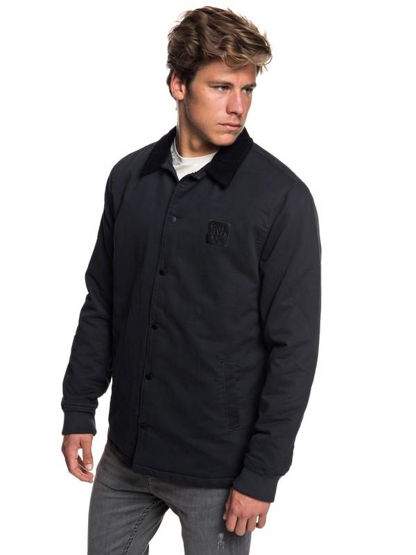 0 Men's Kofuji Water Resistant Coaches Jacket Black EQYJK03435 Quiksilver
