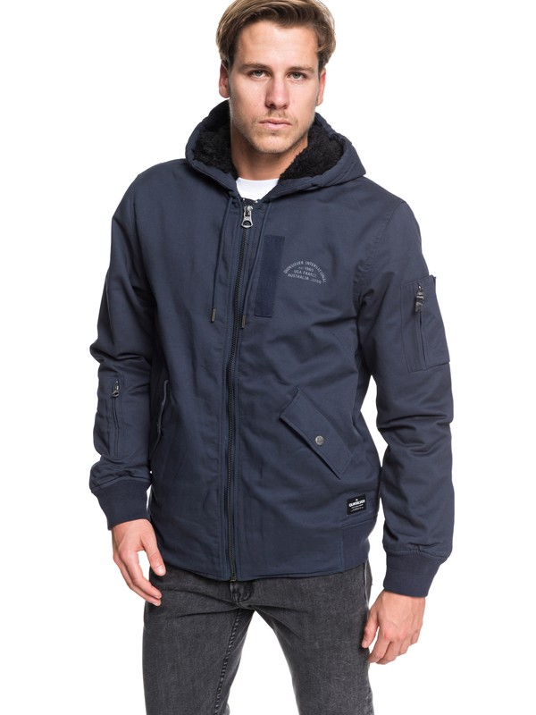 0 Hana Go - Water-Resistant Hooded Jacket for Men Blue EQYJK03436 Quiksilver