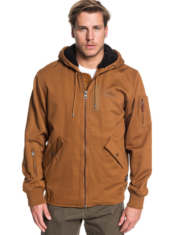 0 Hana Go Water Resistant Hooded Jacket Brown EQYJK03436 Quiksilver