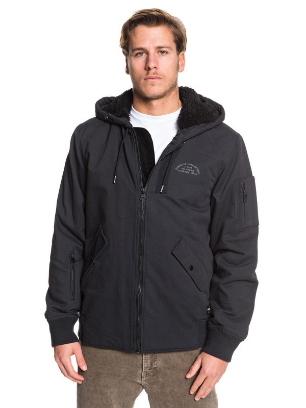 0 Hana Go - Water-Resistant Hooded Jacket for Men Black EQYJK03436 Quiksilver