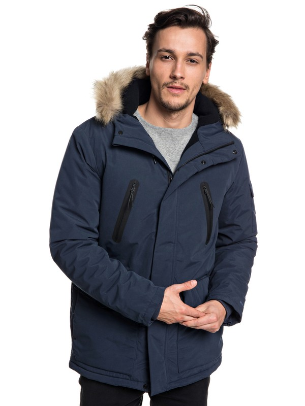 0 Storm Drop Athletic - Waterproof Hooded Parka for Men Blue EQYJK03437 Quiksilver