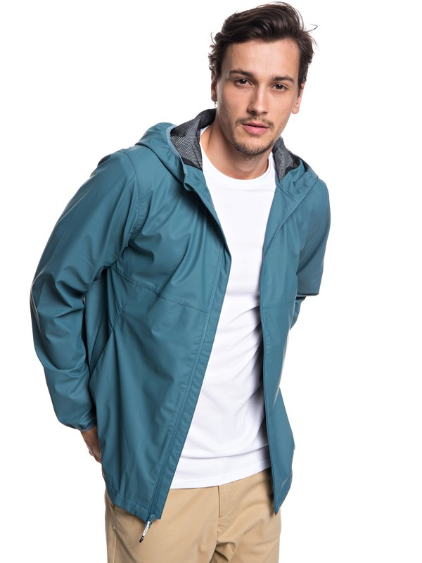 0 Kamakura Rains - Hooded Raincoat for Men Blue EQYJK03438 Quiksilver