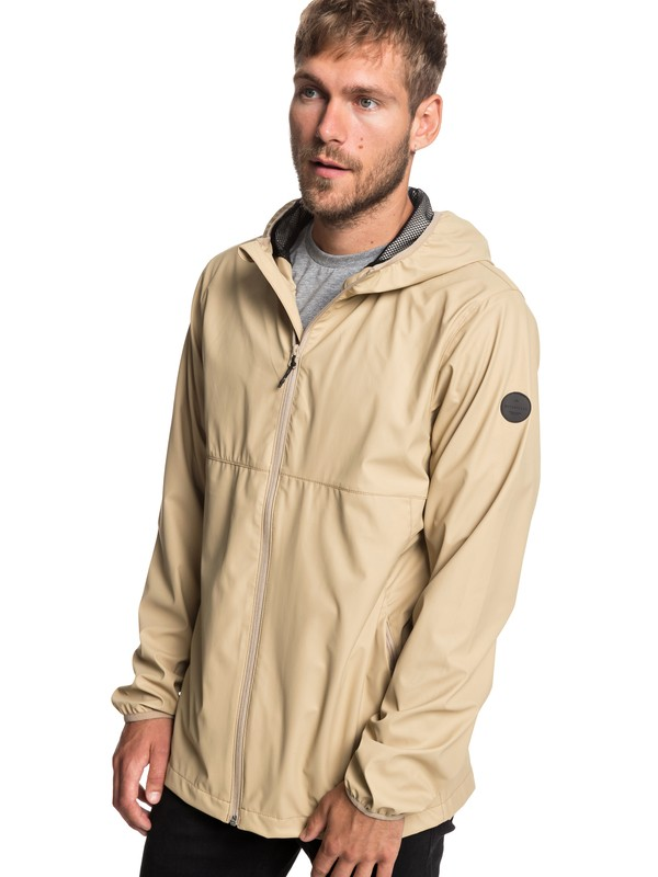 0 Kamakura Rains - Hooded Raincoat for Men Brown EQYJK03438 Quiksilver