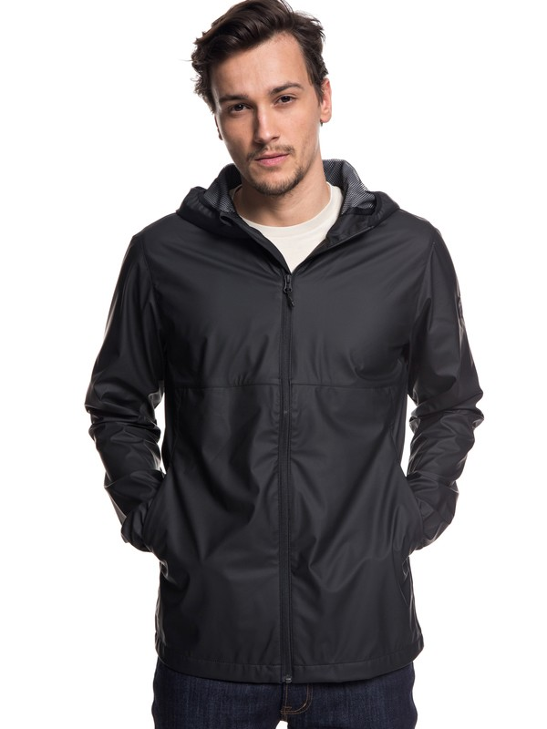 0 Kamakura Rains Hooded Raincoat Black EQYJK03438 Quiksilver