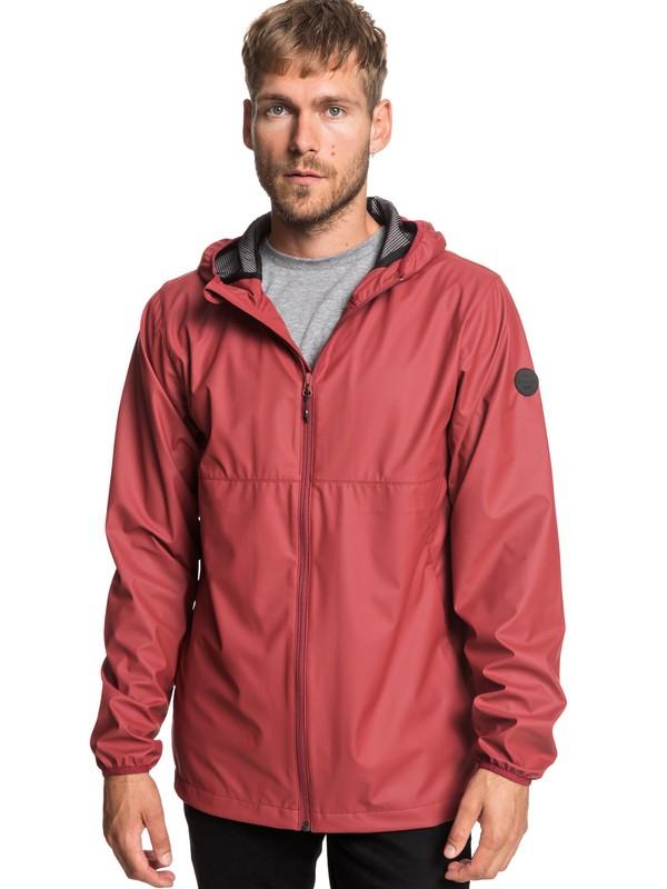 0 Kamakura Rains - Hooded Raincoat for Men Red EQYJK03438 Quiksilver
