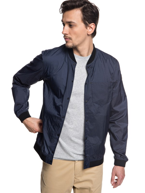 0 Qpak - Packable Waterproof Bomber Jacket for Men Blue EQYJK03441 Quiksilver