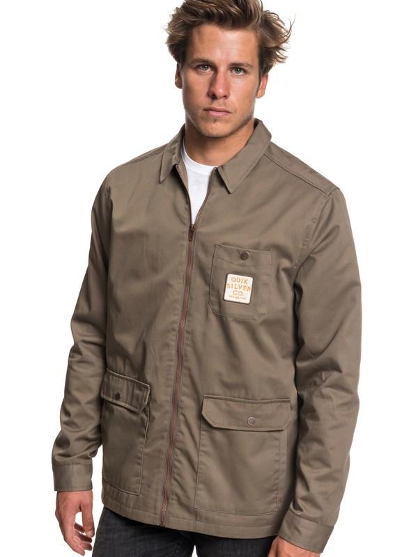 0 Mashu Times Workwear Jacket Grey EQYJK03452 Quiksilver