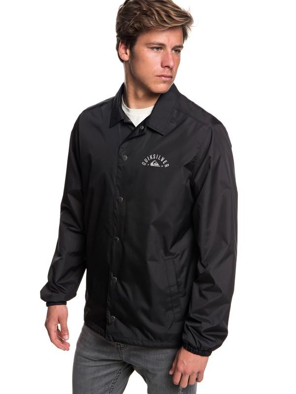 0 Ohama Break Water-Resistant Coaches Jacket Black EQYJK03455 Quiksilver
