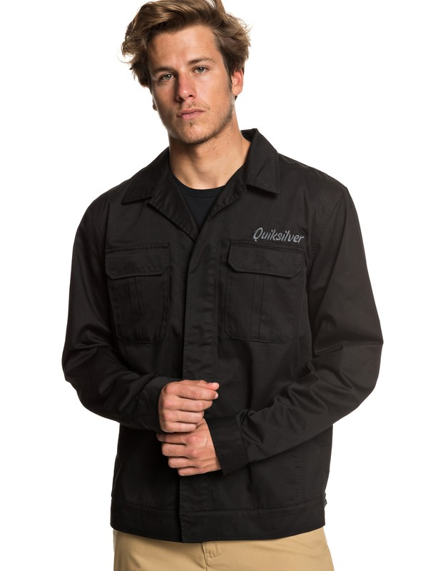 0 Twice Wilted Shirt Jacket Black EQYJK03464 Quiksilver