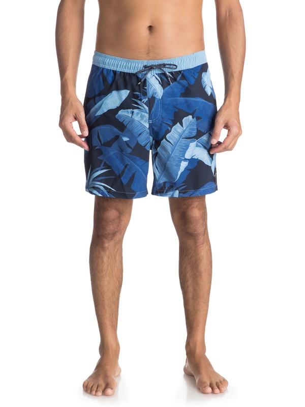 """0 Island Time 17"""" - Traje De Baño para Hombre Azul EQYJV03294 Quiksilver"""