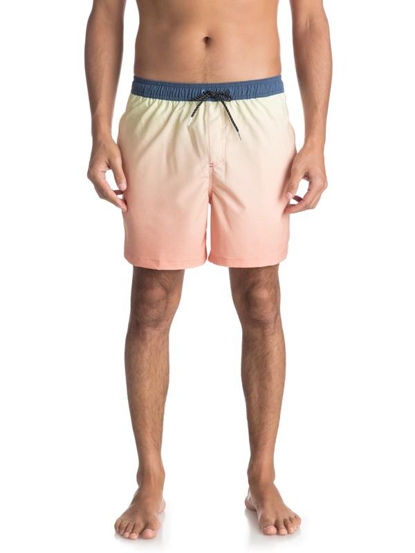 """0 Пляжные шорты Fader 17"""" Оранжевый EQYJV03296 Quiksilver"""