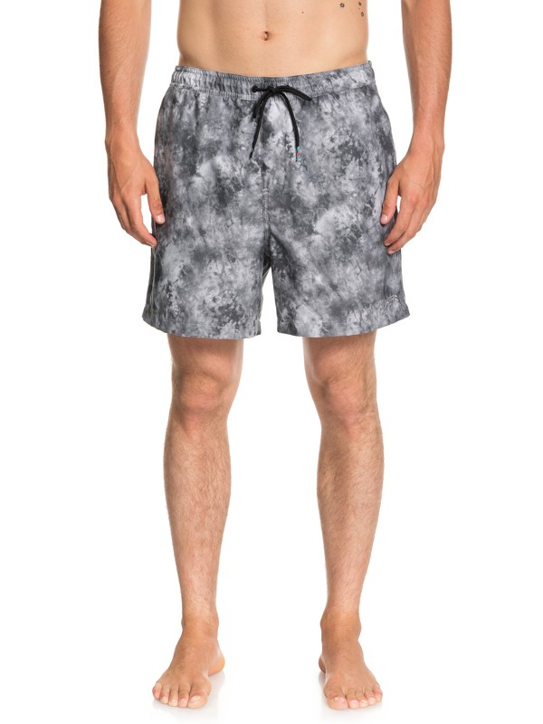 "0 Men's Shibori 17"" Volley Boardshorts Black EQYJV03361 Quiksilver"